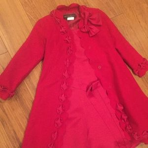 Girls Holiday Dress and Coat